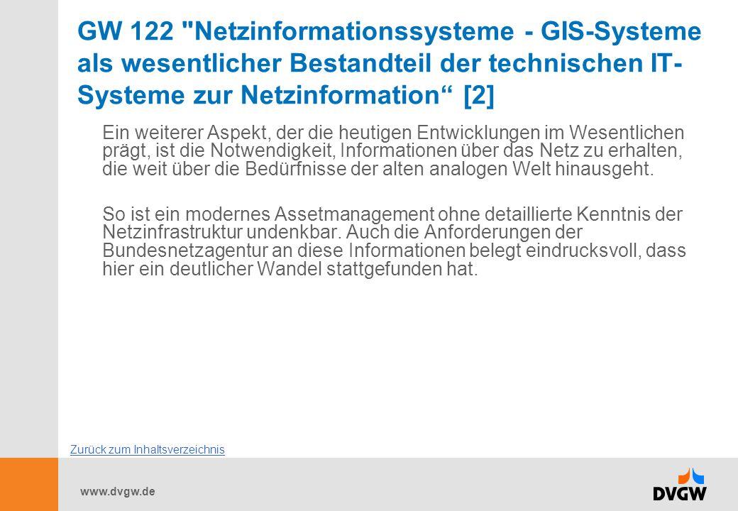 GW 122 Netzinformationssysteme - GIS-Systeme als wesentlicher Bestandteil der technischen IT-Systeme zur Netzinformation [2]